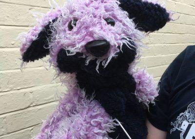 pink puppet